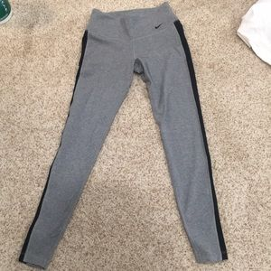 Nike Pants - Nike dri-fit gray leggings with black stripe